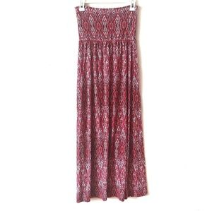 Cynthia Rowley Red Strapless Maxi Dress